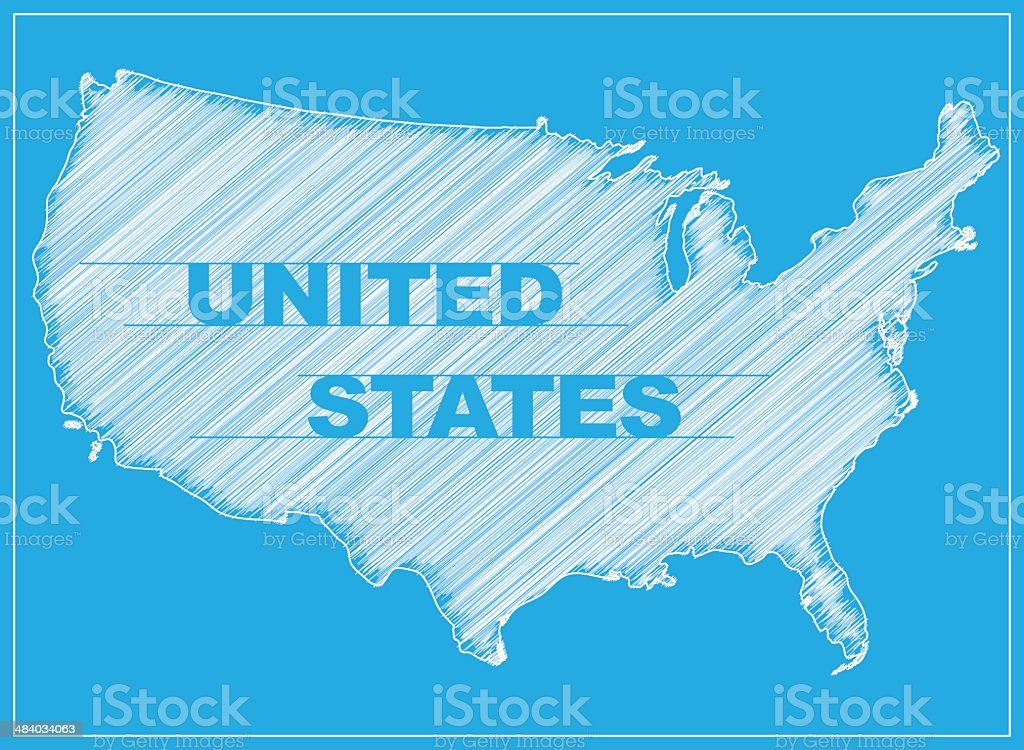 Blueprint - United States royalty-free stock vector art