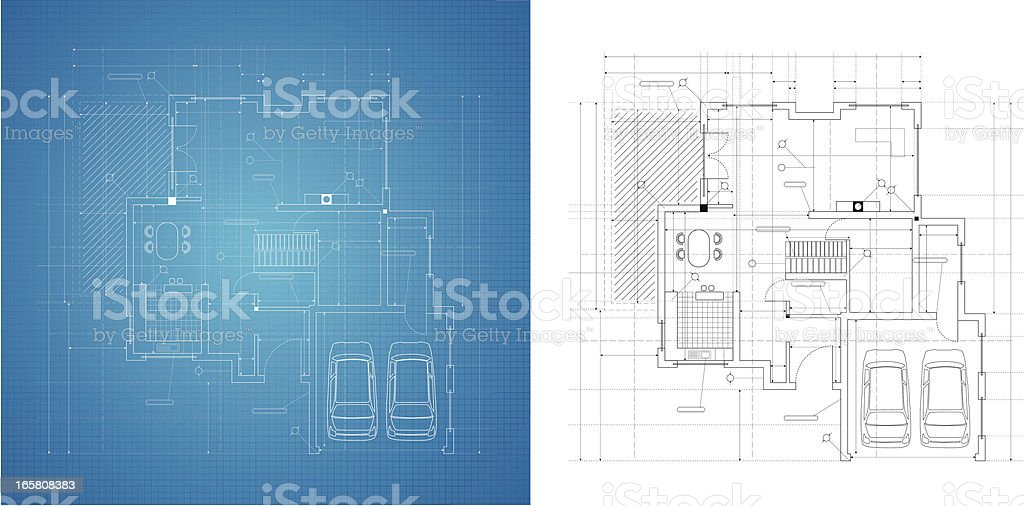 Blueprint royalty-free stock vector art