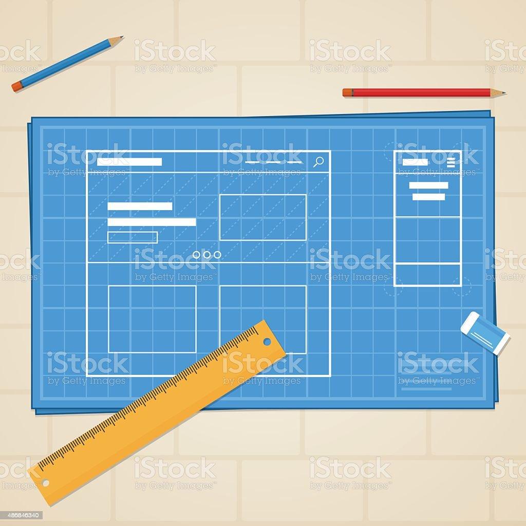 Blueprint website stock vector art 486846340 istock blueprint website royalty free stock vector art malvernweather Image collections