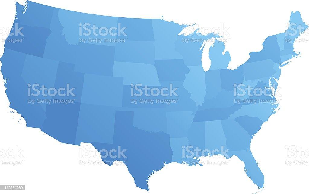 Blues States vector art illustration