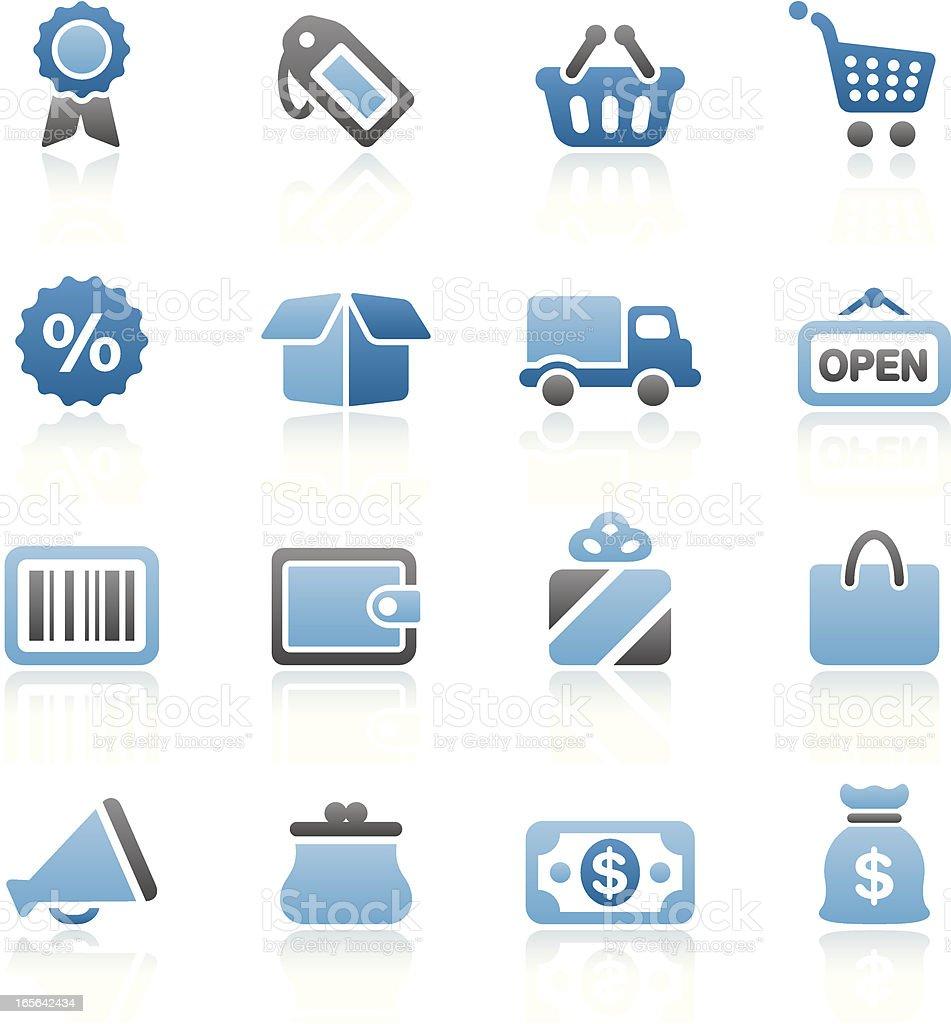 Bluesico - Set 1 (Shopping) royalty-free stock vector art