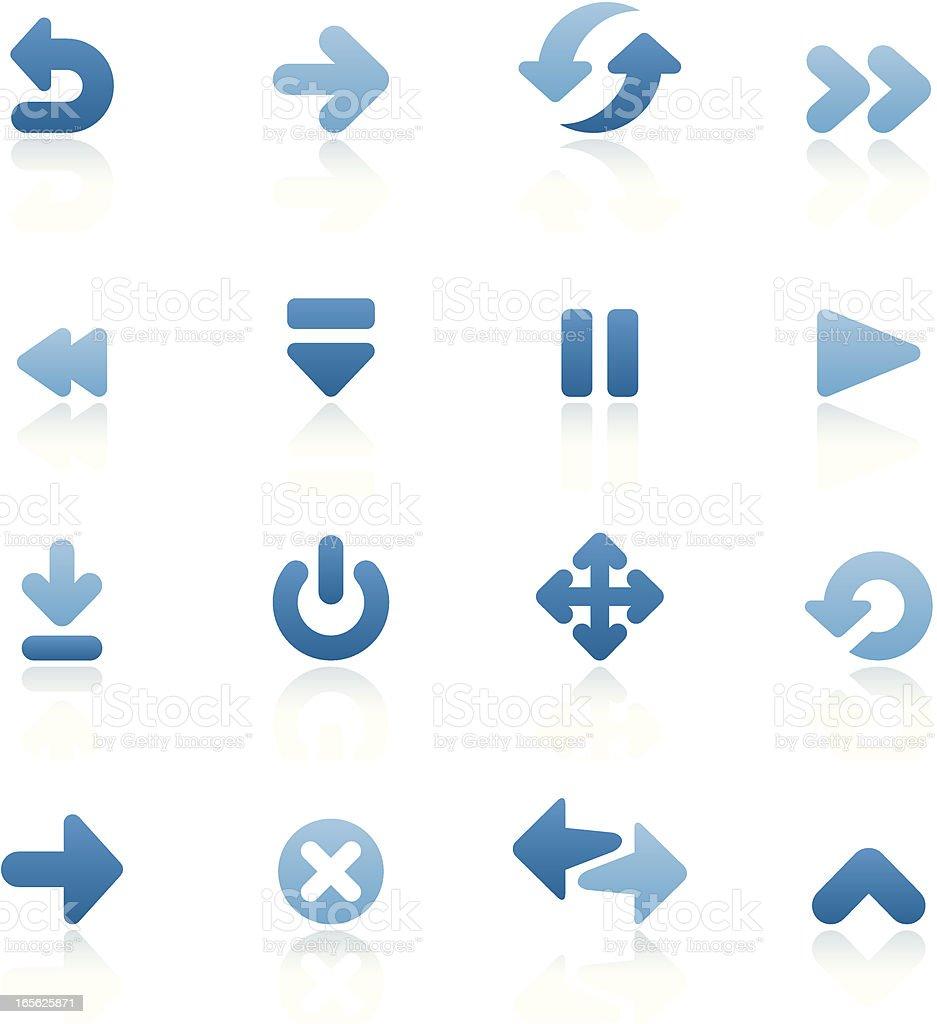 Bluesico - Set 5 (Arrows) royalty-free stock vector art