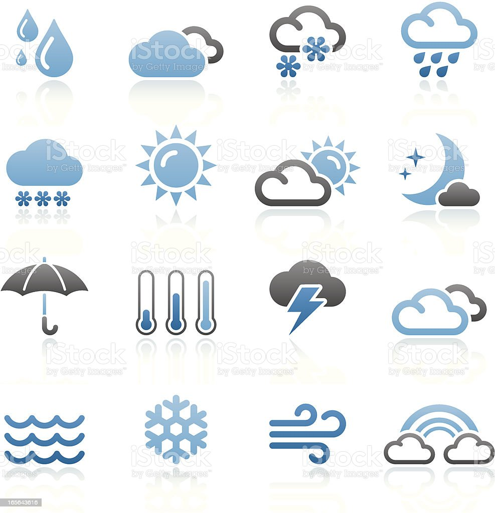 Bluesico - Set 9 (Weather) vector art illustration