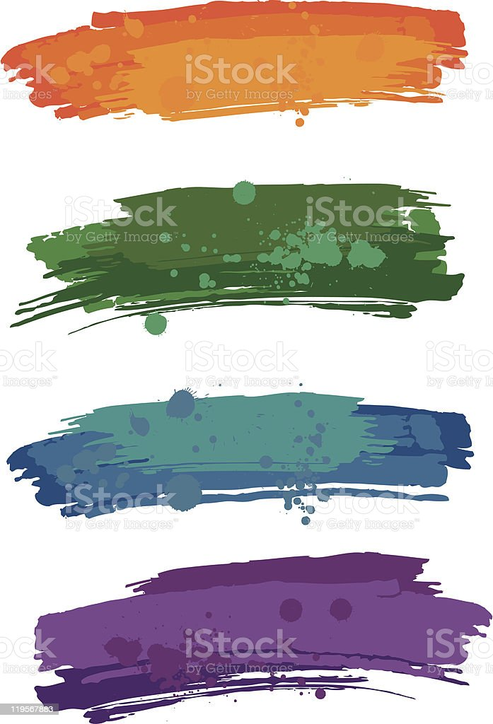 Blur with blobs royalty-free stock vector art