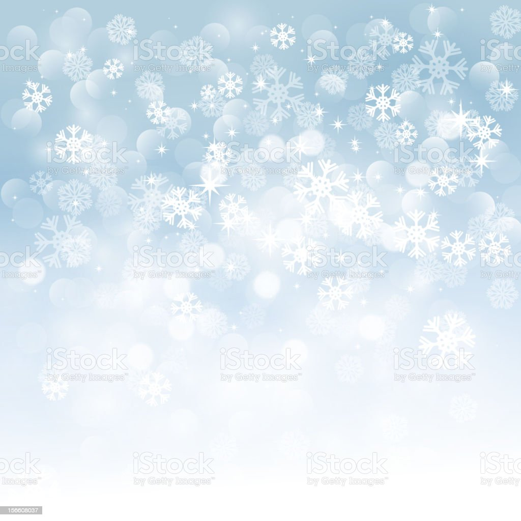 Blurred background image of snowflakes royalty-free stock vector art