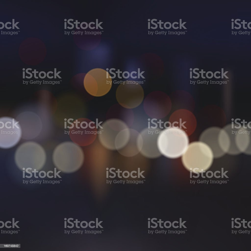 Blurred city at night, vector background. vector art illustration