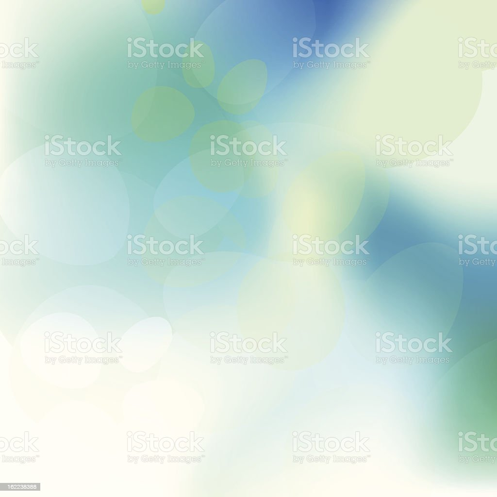Blurred green and white abstract background vector art illustration