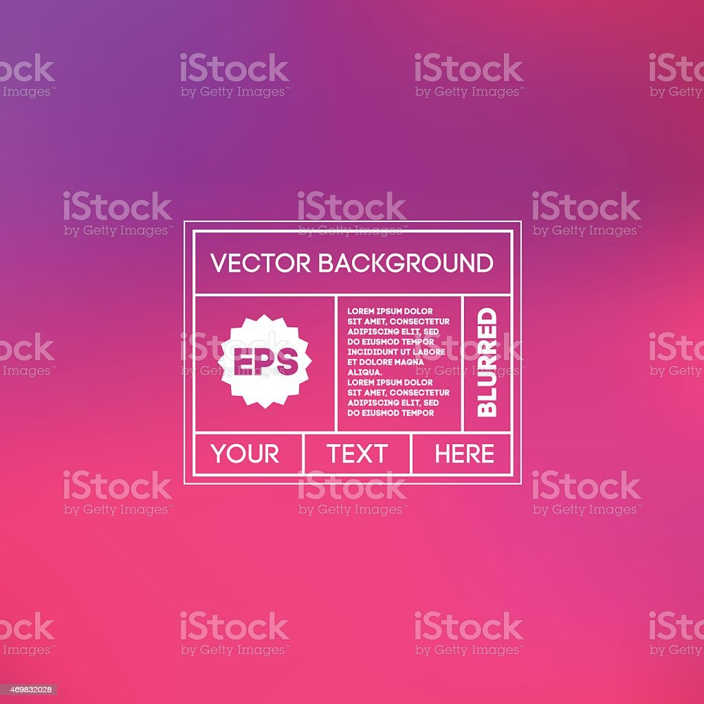 Blurred pink and purple background template vector art illustration