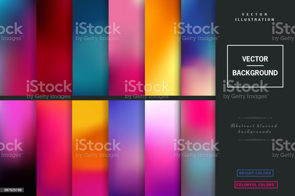 Blurred vector backgrounds. vector art illustration