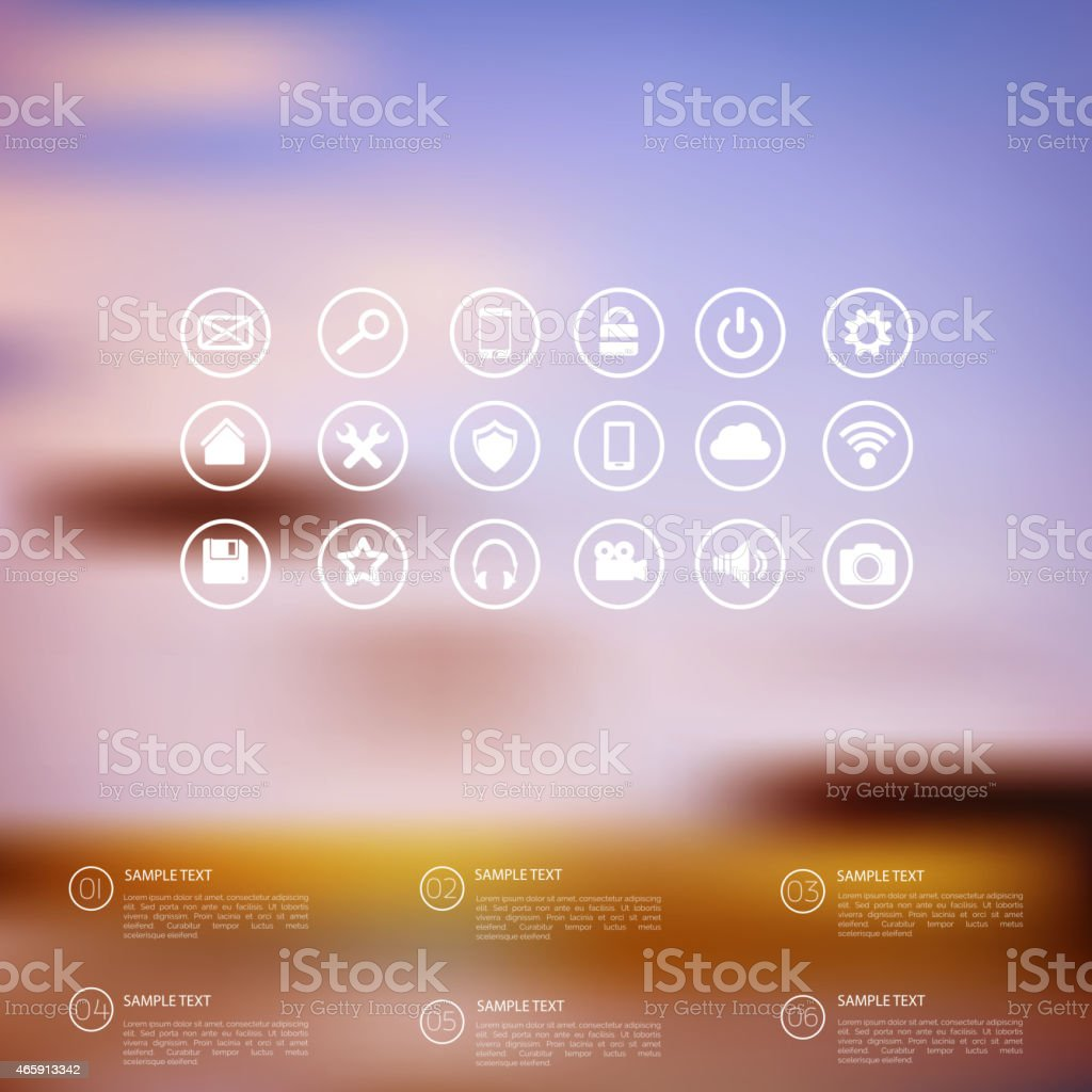 A blurry abstract web icon design vector art illustration