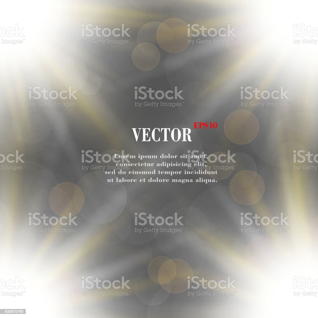 blurry background light effects and sunburst royalty-free stock vector art