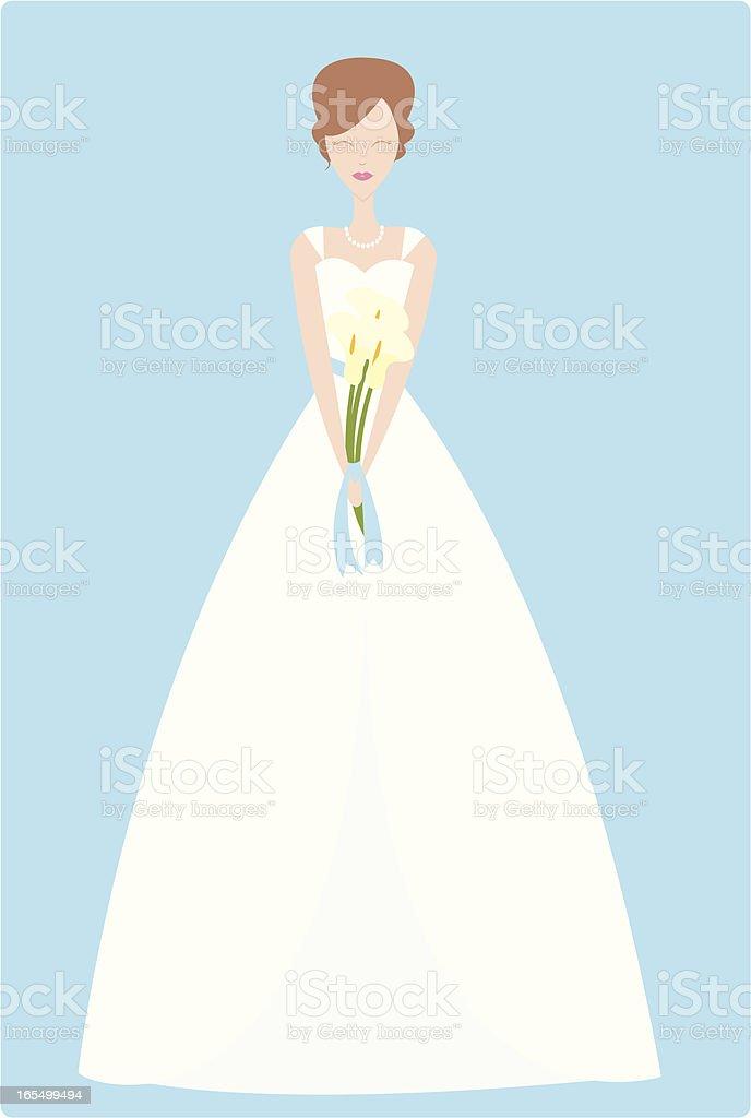 Blushing Bride royalty-free stock vector art