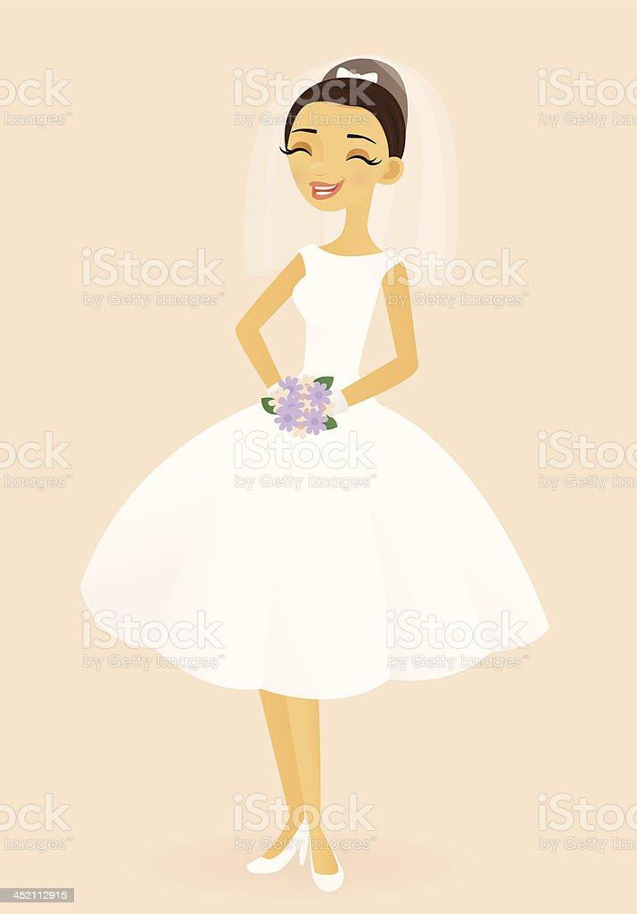 Blushing Bride vector art illustration