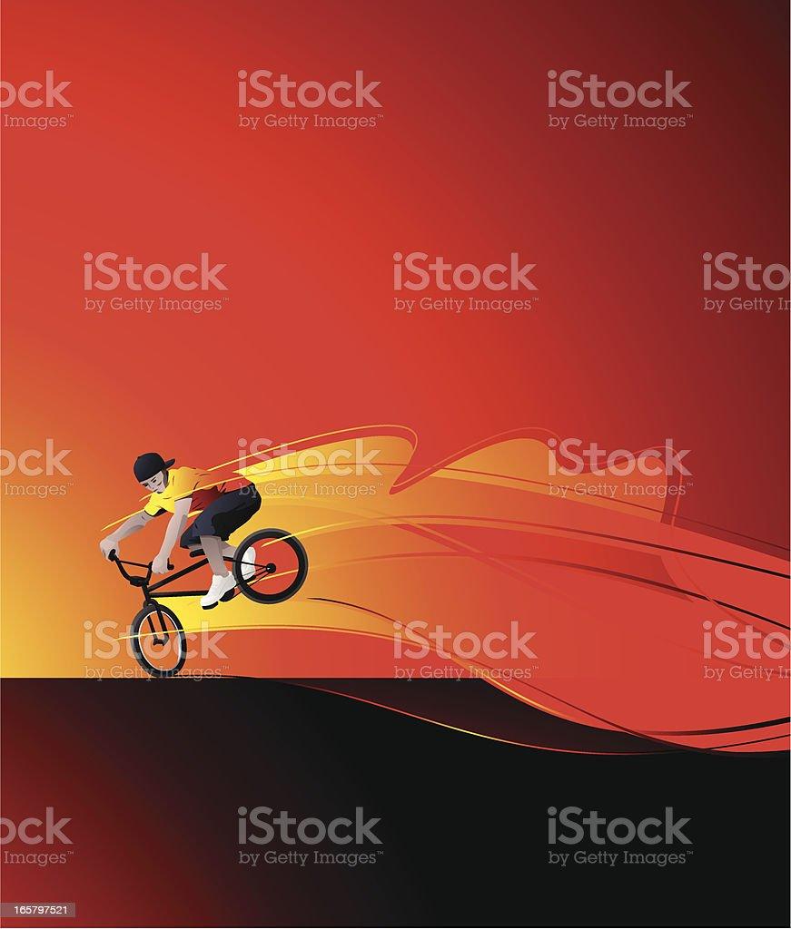 BMXer vector art illustration