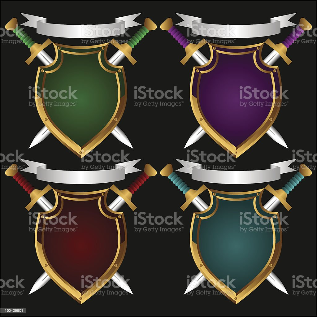 Board and sword.Set stock photo