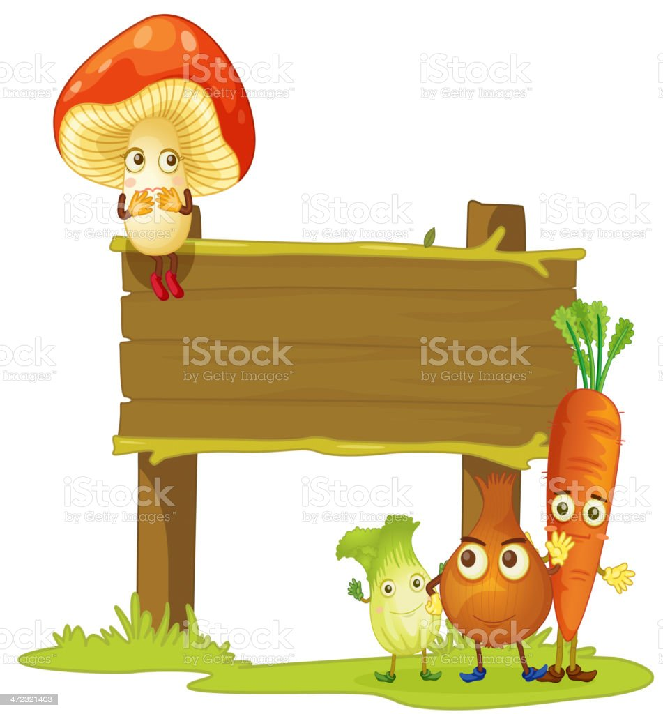 board and vegetables royalty-free stock vector art