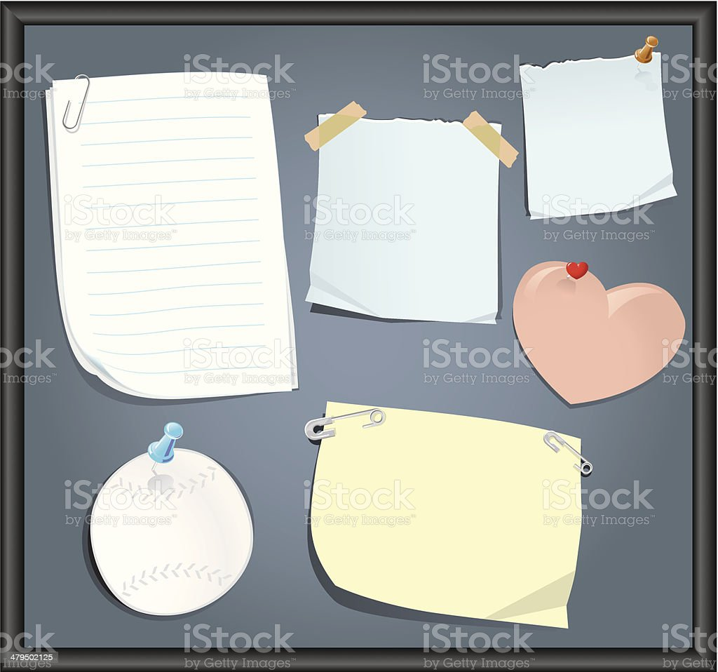 Board of Reminders vector art illustration