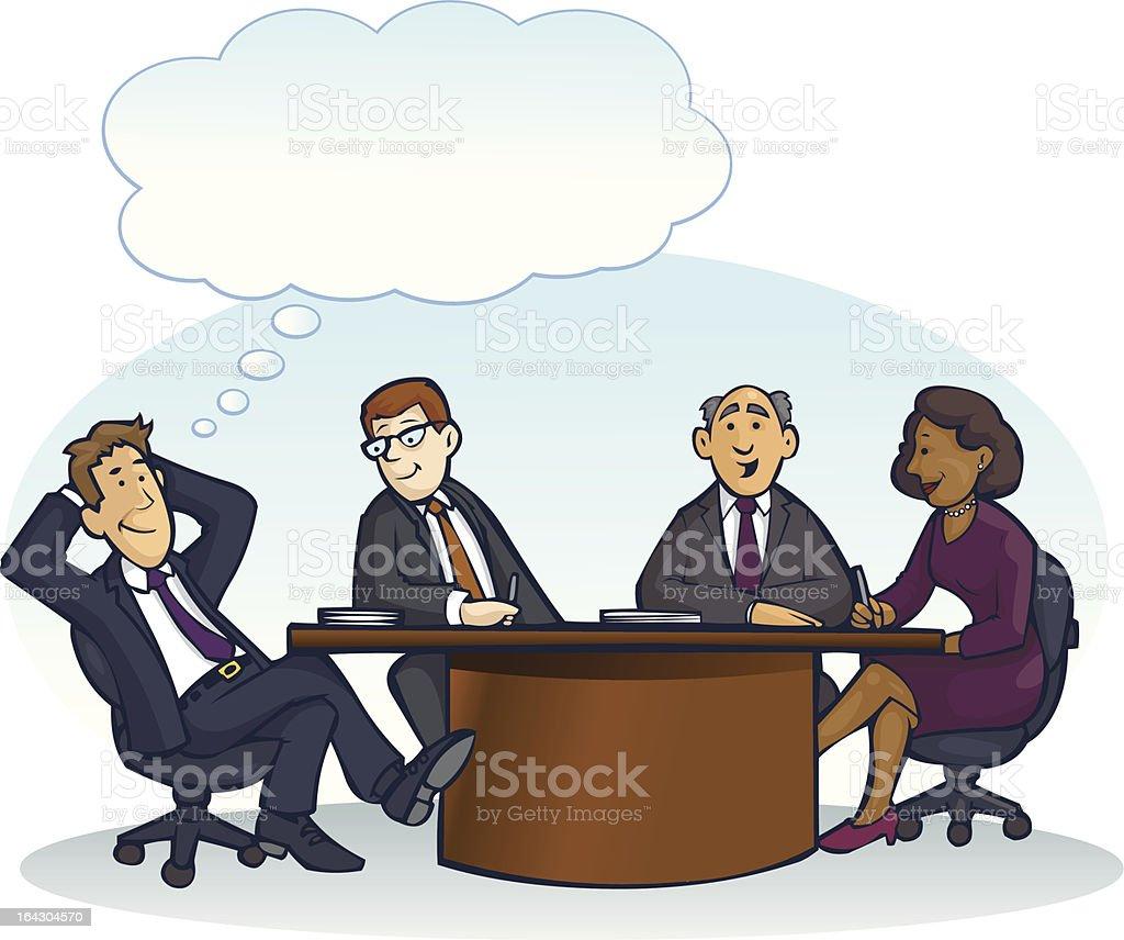 Board Room Meeting vector art illustration
