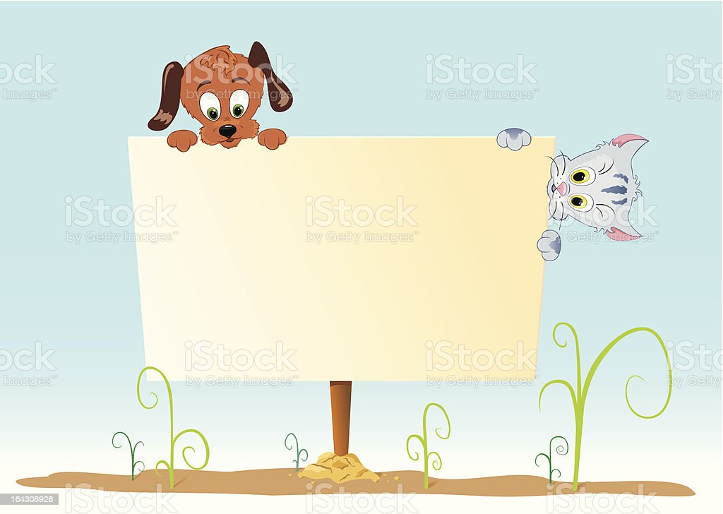 Board with animal royalty-free stock vector art