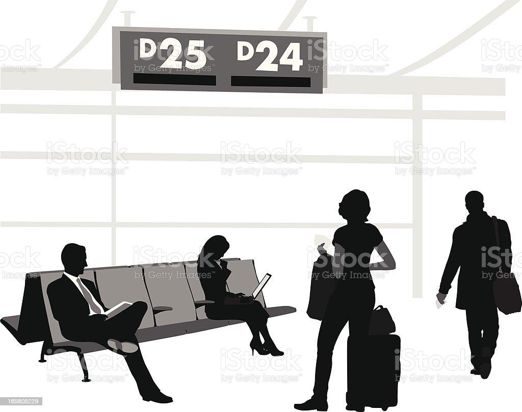 Boarding Area Vector Silhouette royalty-free stock vector art