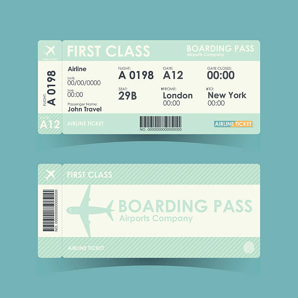Boarding Pass Clip Art, Vector Images & Illustrations - iStock