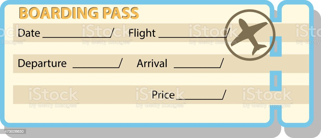 boarding ticket vector art illustration