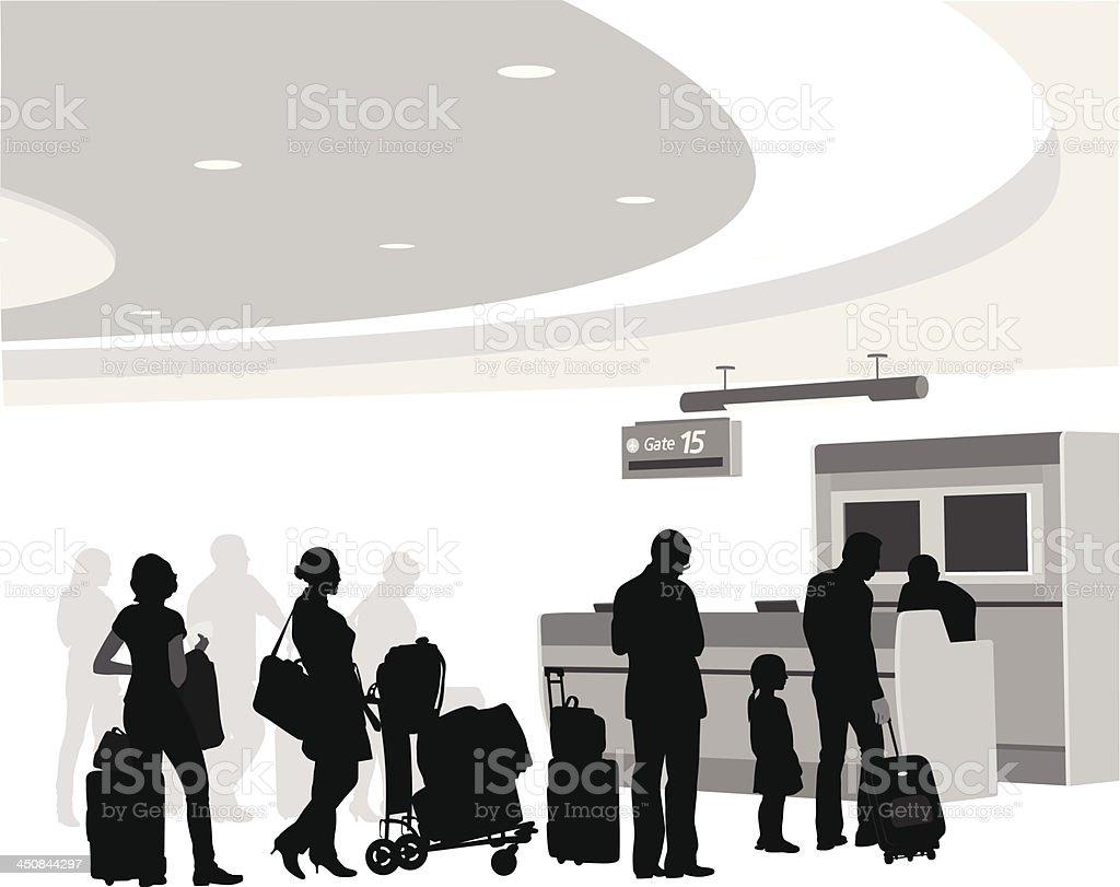 Boarding royalty-free stock vector art