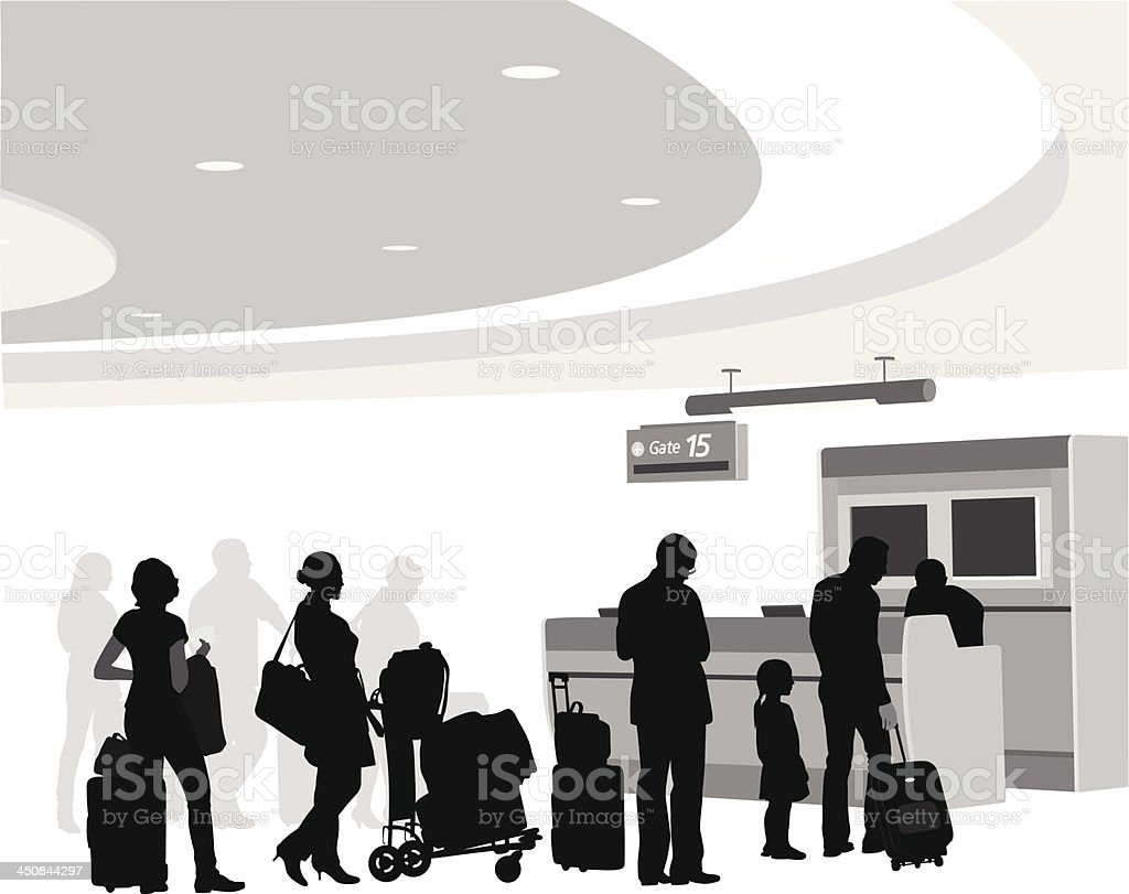 Boarding vector art illustration