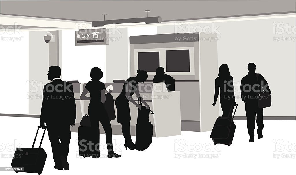Boarding Vector Silhouette vector art illustration
