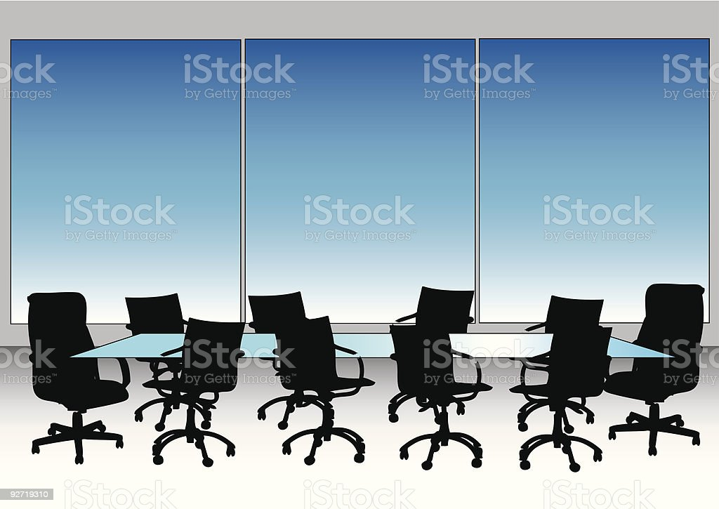 Boardroom royalty-free stock vector art