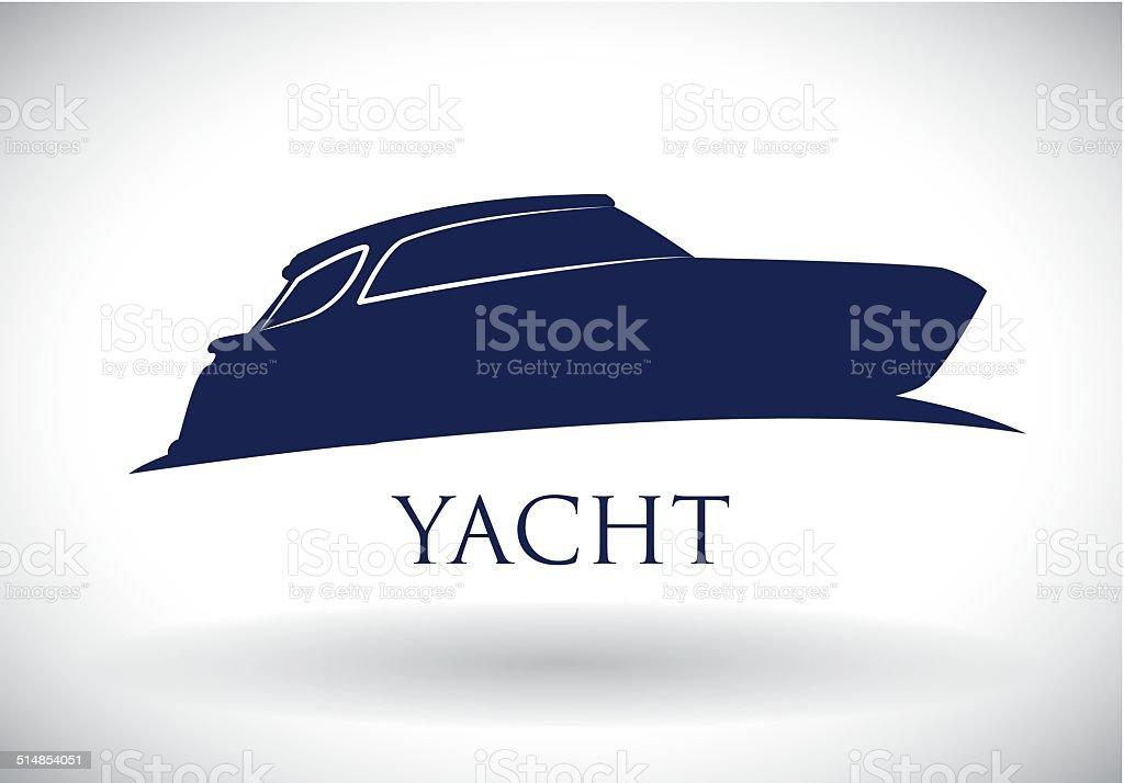 boat design vector art illustration