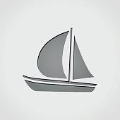 boat grey icon