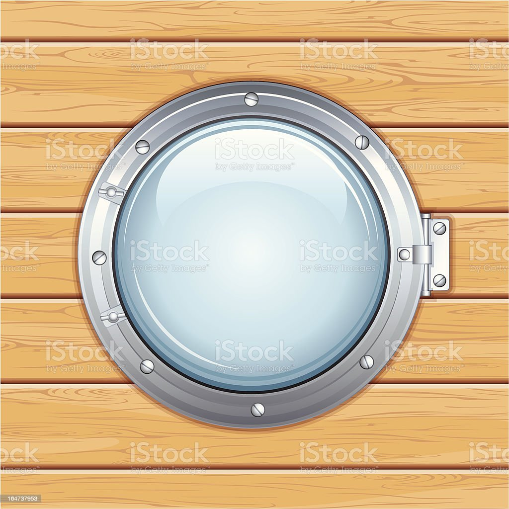 Boat Porthole. Vector Graphics royalty-free stock vector art