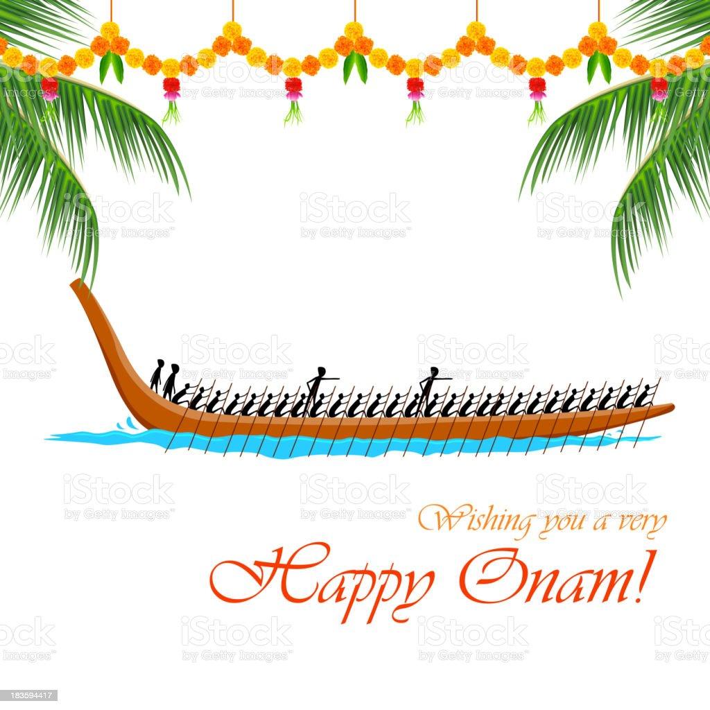 Boat Race of Kerla royalty-free stock vector art
