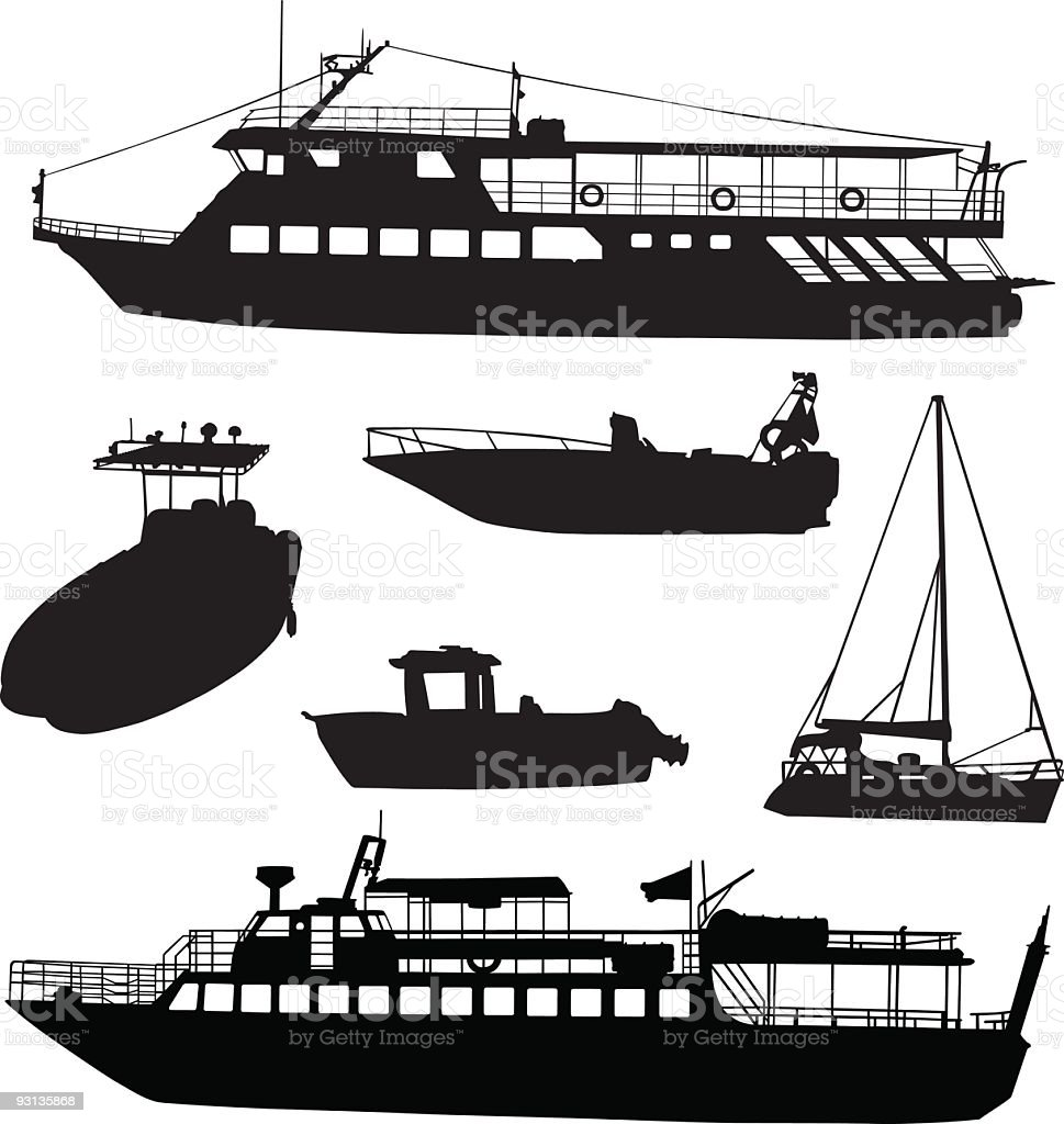 Boat shapes royalty-free stock vector art