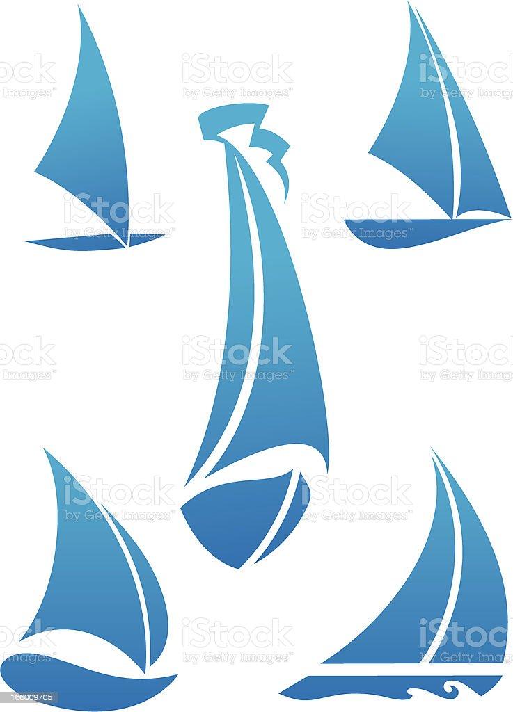 boat symbol vector art illustration
