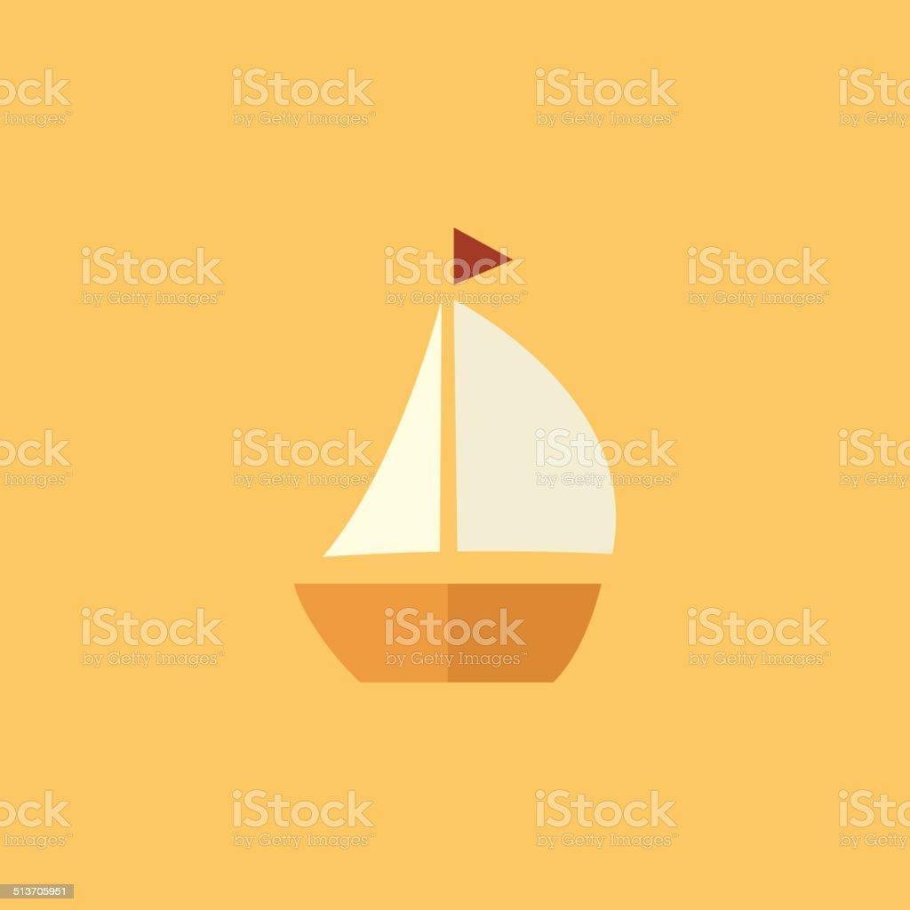 Boat. Transportation Flat Icon vector art illustration