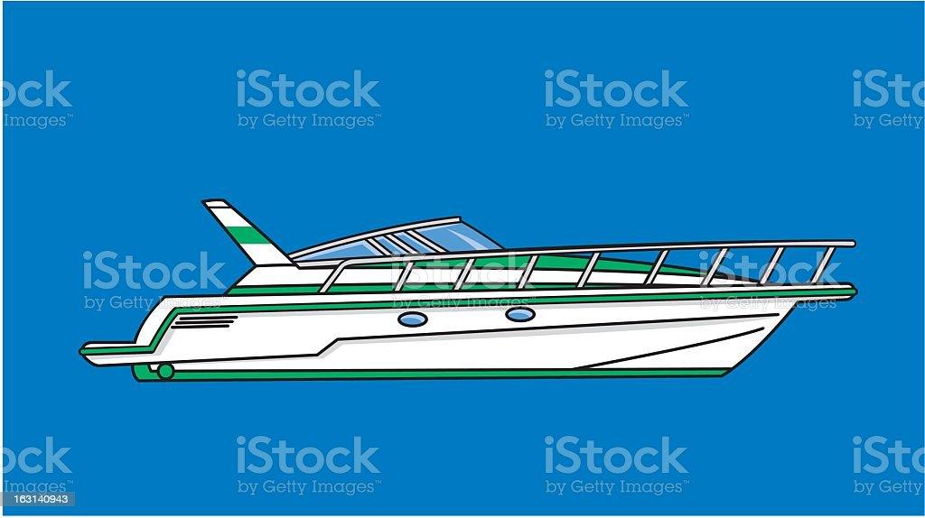 Boat royalty-free stock vector art