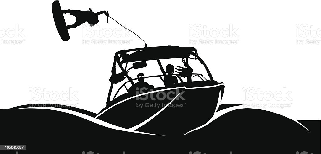 boat vector art illustration