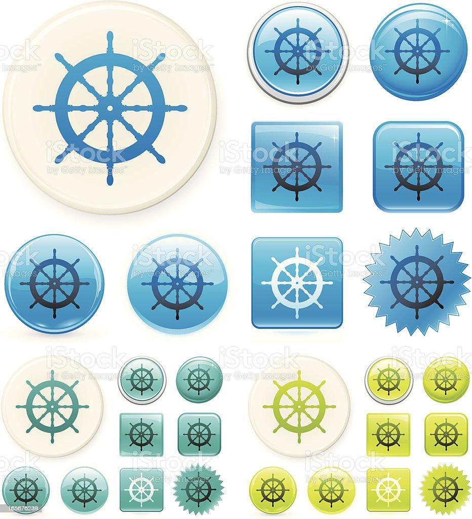 Boat wheel icon royalty-free stock vector art