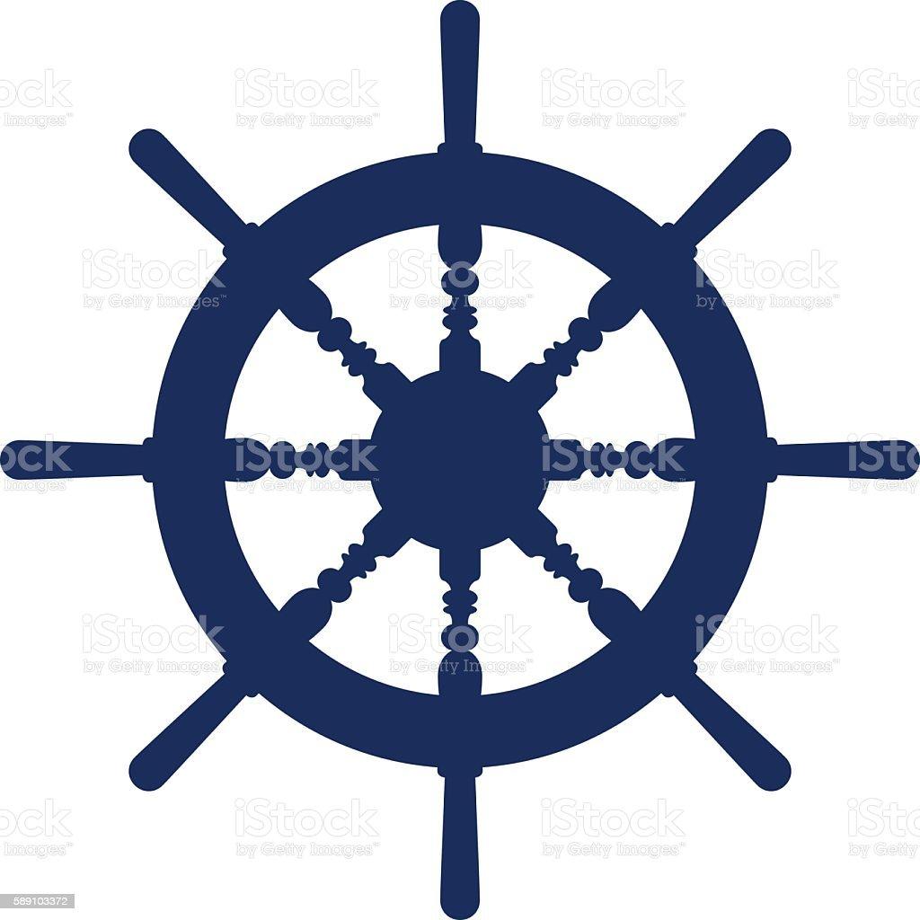 Boat Wheel vector art illustration
