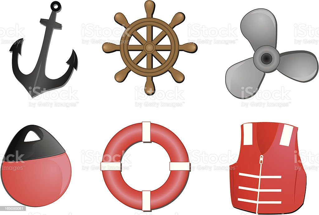 boating related vector illustrations royalty-free stock vector art