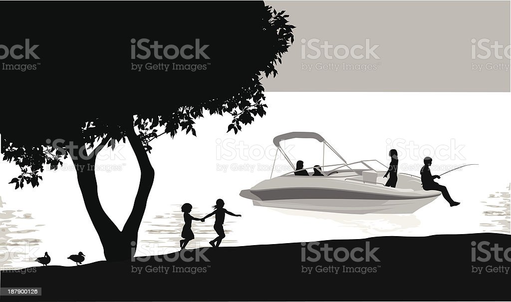 Boating royalty-free stock vector art