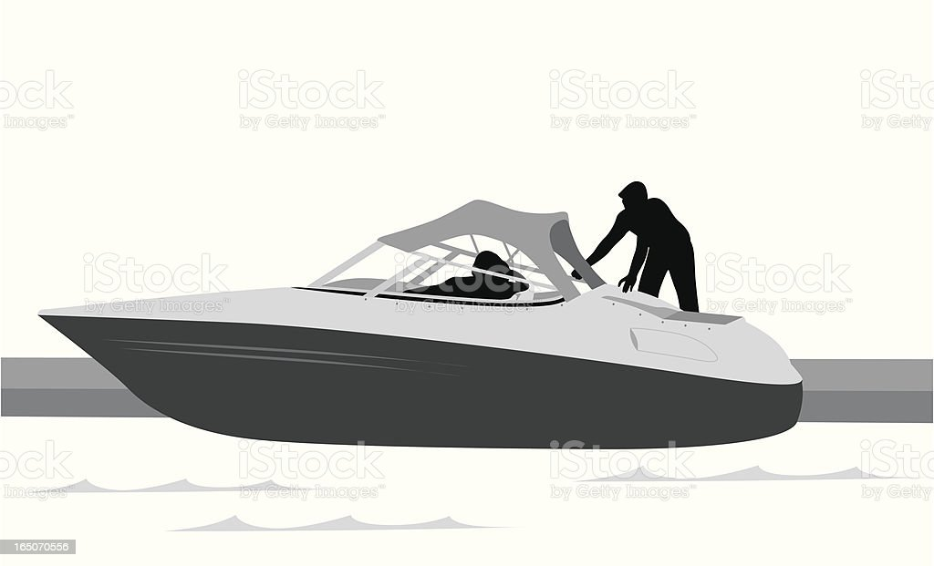 Boating Vector Silhouette royalty-free stock vector art