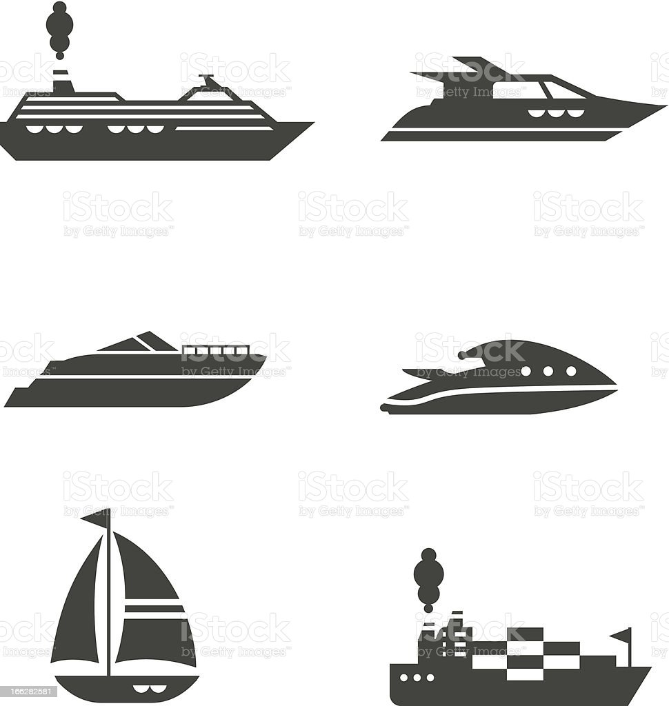 Boats icons vector art illustration