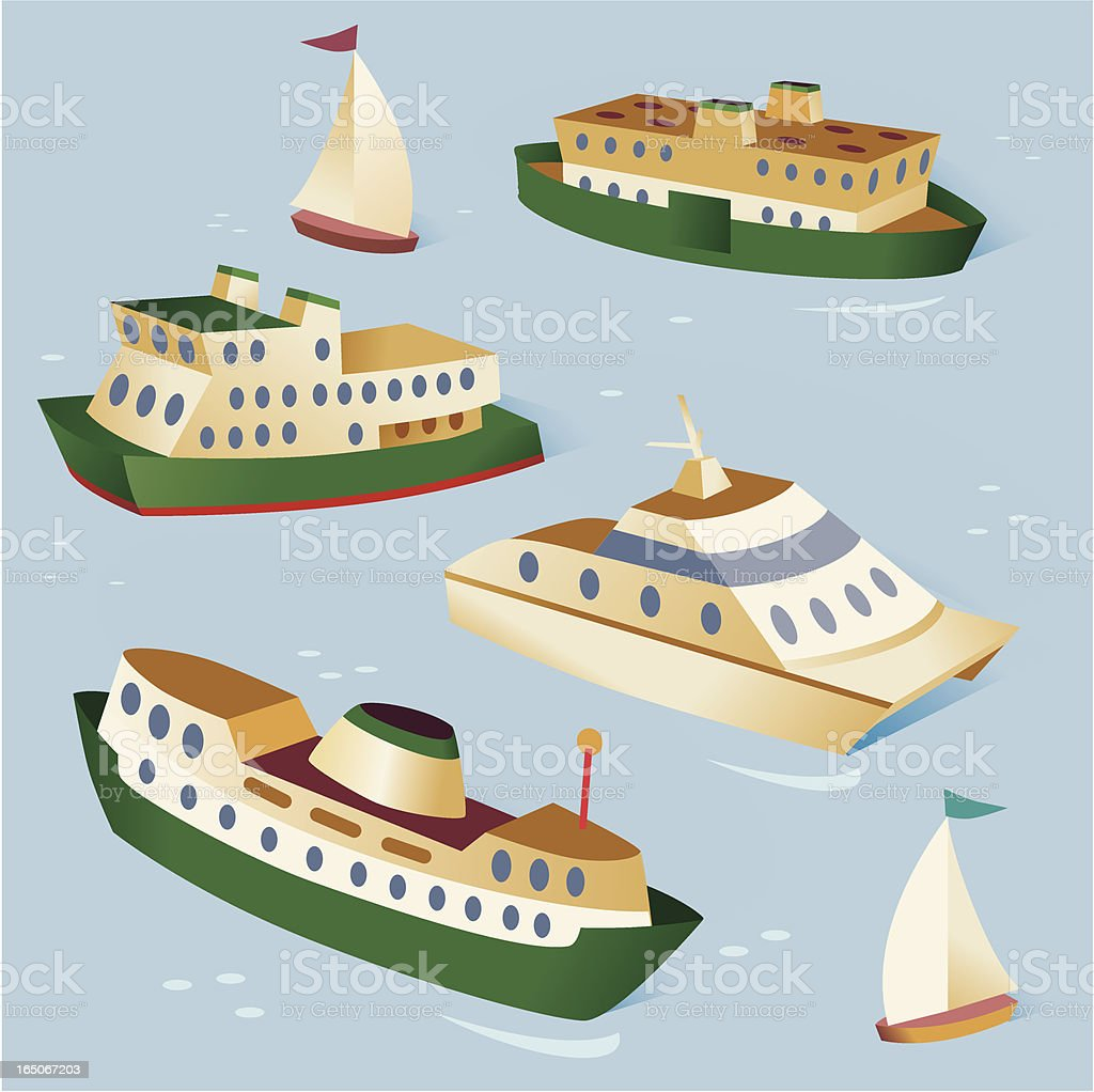 Boats royalty-free stock vector art