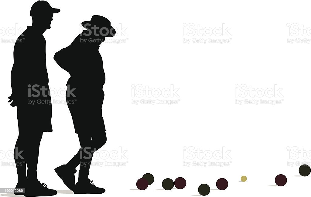 Bocce Ball royalty-free stock vector art