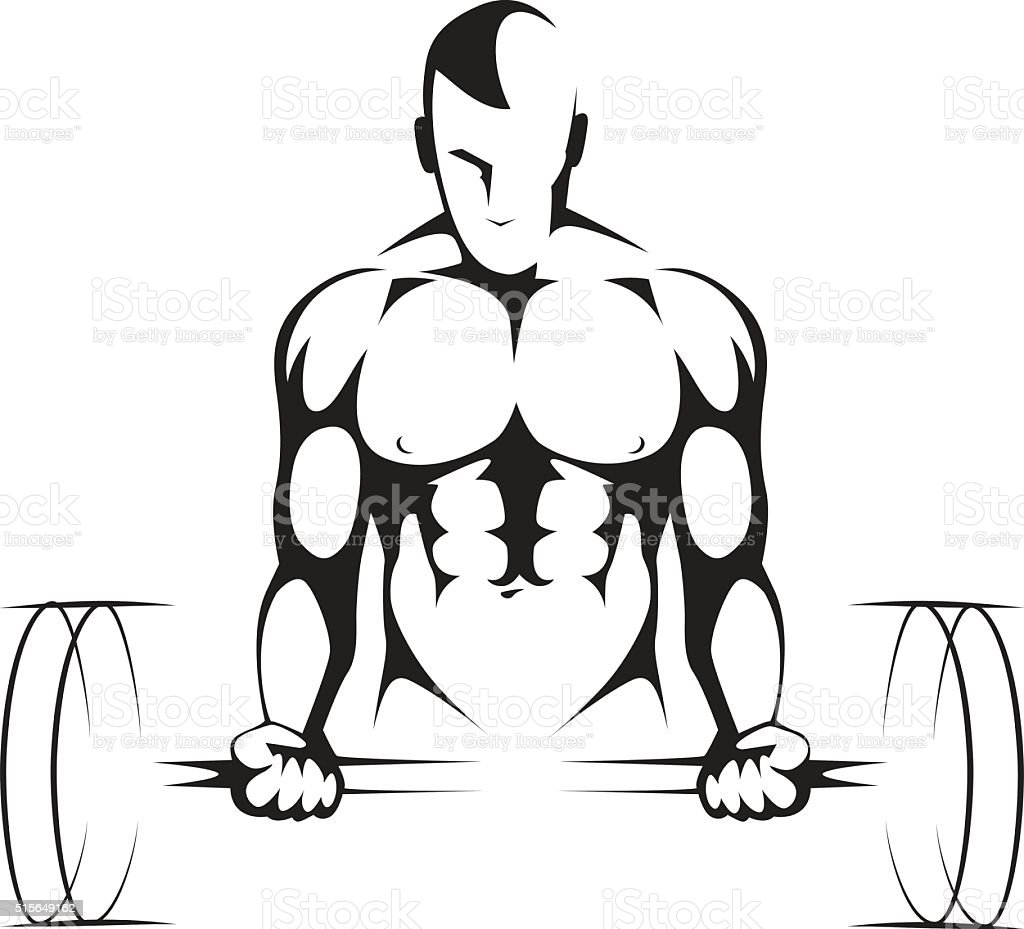 Body builder Gym symbol vector art illustration