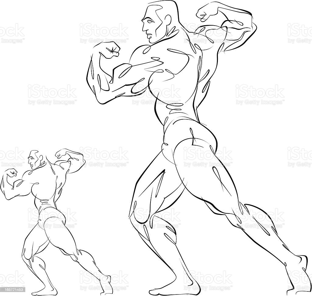 Body builder royalty-free stock vector art