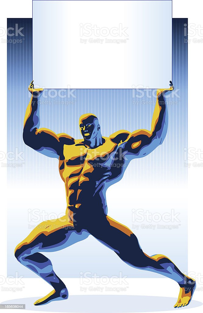 Body Building royalty-free stock vector art